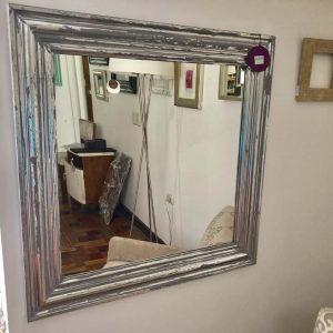 Espejo Plateado decapado